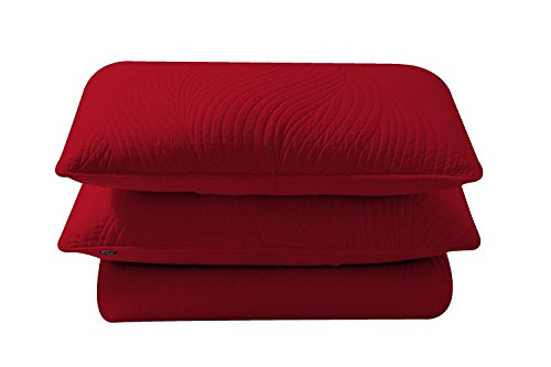 Brielle Stream Sham Set, Standard, Red supplier