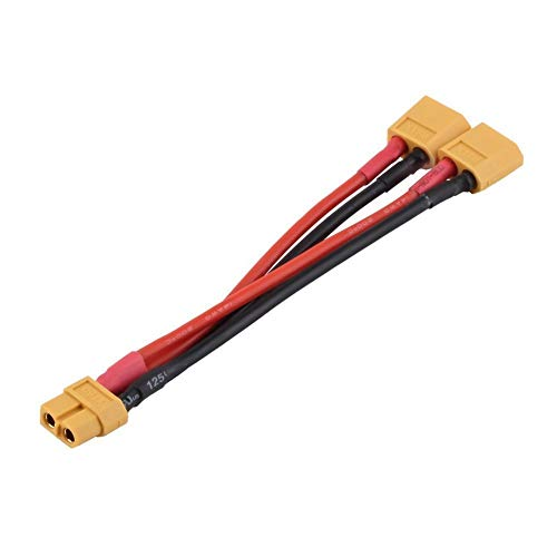 XT60 Parallel Wire Battery Connector Cable Double Extension Silicone Splitter with Original Connector: Amazon.co.uk: DIY & Tools
