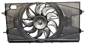 TYC 621100 Chevrolet Cobalt Replacement Radiator/Condenser Cooling Fan  Assembly