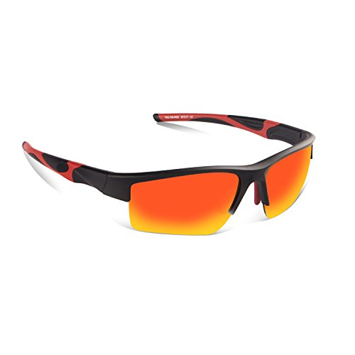 Polarized Sports Sunglasses for Men Women,Zhara 100% UV Protection  Baseball Running Cycling Fishing Driving Golf Softball Hiking Running Climbing Outdoor Activities Lightwight Tr90 - Protection Uv 100 Means Sunglasses