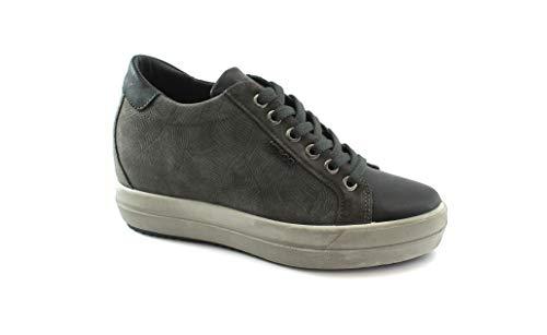 Gris De Mujer Grigio 2155411 Color Zapatillas Zapatos Antracita Co Cuña amp; Igi UAFfq
