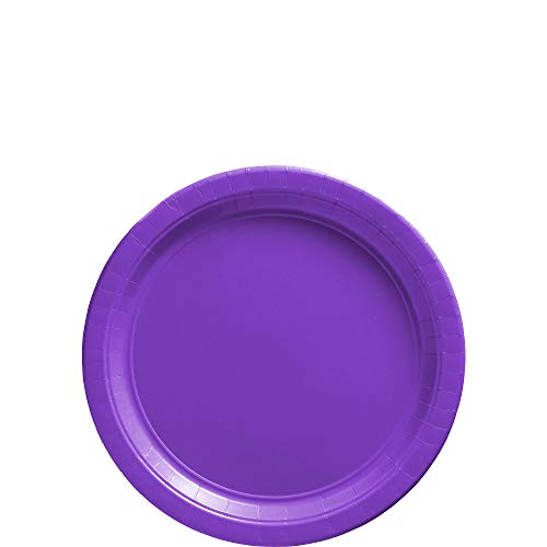 (Amscan New Purple Paper Plate Big Party Pack, 50 Ct.)