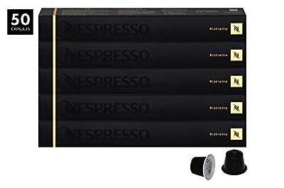 """Nespresso OriginalLine Espresso, Ristretto, 50 Capsules - """"NOT compatible with Vertuoline"""""""
