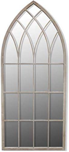 vidaXL Espejo gótico arqueado para jardín 115 x 50 cm para Uso Interior y Exterior: Amazon.es: Jardín
