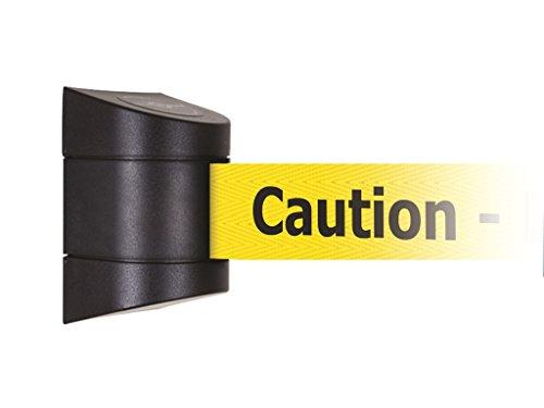 Tensabarrier 897-15-M-33-NO-YAX-D Wall Magnet Mount Black Caps, No Custom Yellow Webbing/Black ''Caution - Do Not Enter'' Magnet Belt End, 15' by Tensabarrier