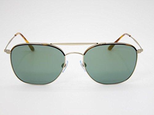 Giorgio Armani  Men's 0AR6058J Yellow Havana/Matte Pale Gold/Mirror Green - Gold Sunglasses Armani