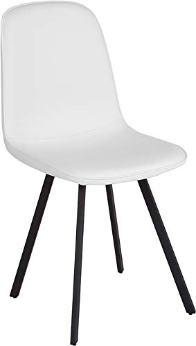 Amazoncom Offex Contemporary Curved Back White Vinyl - Curved-upholstered-dining-chair