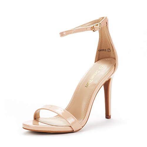 - DREAM PAIRS Women's Karrie Nude Pat High Stiletto Pump Heel Sandals Size 7 B(M) US