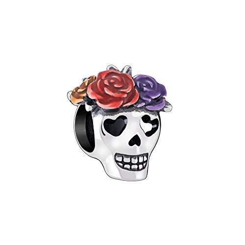Chamilia Women's Sugar Skull Bead Charm - Multi-Color Enamel, One Size