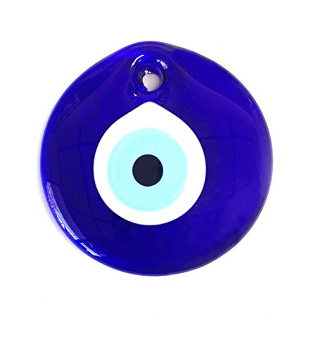 5401 Large Hanging Turkish Evil Eye Charm (4 in.) - LuckyEye Decor