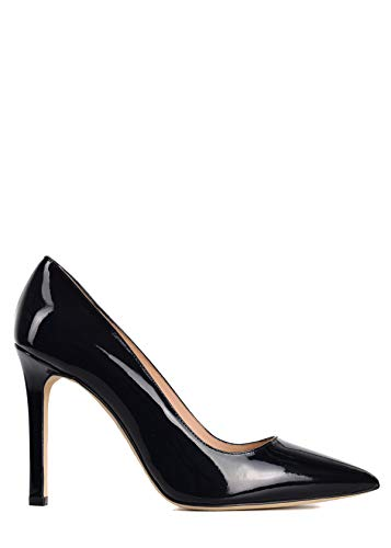 (Manolo Blahnik Womens BB Black Patent Leather Pointed Toe Pumps IT40/US10~$665)