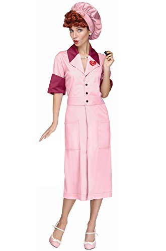 Fun World Women's Lucy Candy Factory Costume, Multi, -