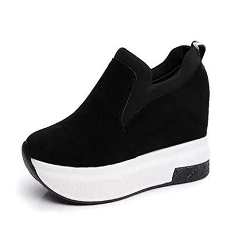 DOSOMI Women Wedges Sneakers Spring Autumn Hidden Heel High Top Platform Comfort Casual Wedges Sneakers
