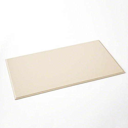 Classic Minimalist Ivory Cream Leather Desk Blotter | Pad Office Desktop Neutral by Global Views