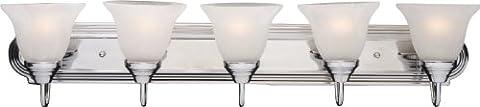 Maxim Lighting 8015MRPC Five Light Marble Glass Vanity, Polished Chrome - Marble Chrome Wall