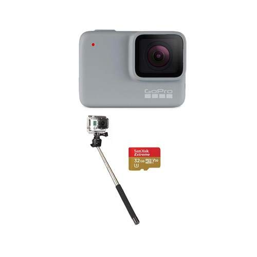 GoPro HERO7 White - Bundle with 32GB SDHC Card, and Selfie S