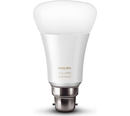 Philips Hue 10W B22 Smart Bulb, Compatible with Amazon Alexa, Apple HomeKit (White & Color)