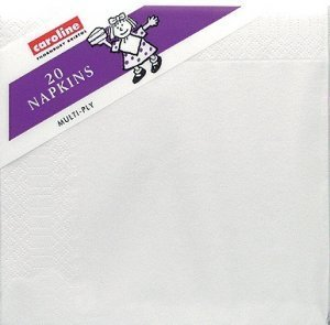 Napkins 33cm White Pack of 20 for Disposable Party Tableware