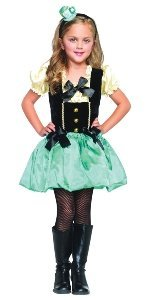 [Mad Hatter Tea Party Princess Child Costume Size Large] (Girl Mad Hatter)