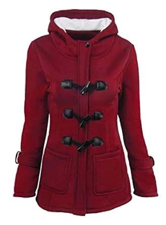 omniscient Women Windbreaker Outwear Warm Wool Long Coat Jacket Trench 2 L