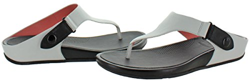 Fitflop Donna Gladdie Sandalo In Pelle Punta-palo Bianco Urbano