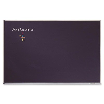 QRTPCA406B - Quartet Porcelain Black Chalkboard w/Aluminum Frame by Quartet
