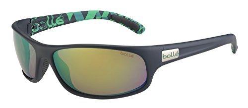 Bolle Anaconda Sunglasses, Matte Blue/Green Polarized Brown Emerald Oleo - Eden Center Shopping