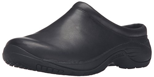 Slip Moccasins (Merrell Men's Encore Chill Smooth Slip-On Shoe, Black, 10 M US)