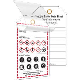 - INCOM GHS1083 GHS Style Self-Laminating Workplace Tags, Printed, 24/Pack (GHS1083)