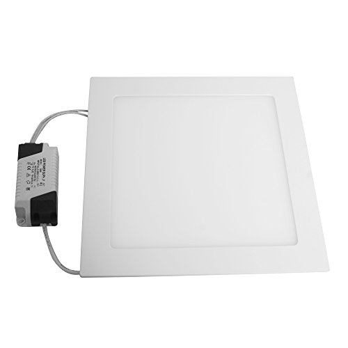 π SMD LED Surface Recessed Ceiling Panel Down Lights Fixture Kit Mount Lamp Energy Saving Ultra Thin and Bright (Day white, 18W Square)