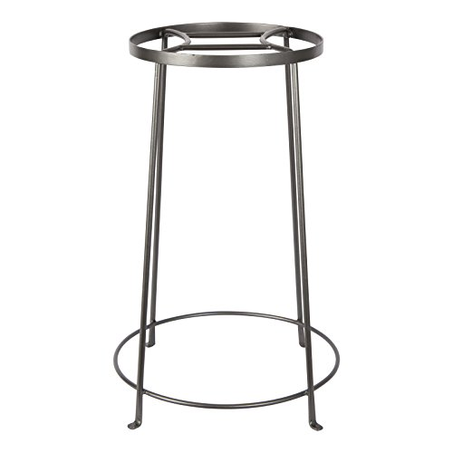 (Achla Designs FB-33 Argyle IV Wrought Iron Plant Stand, 24-inch H, Graphite)