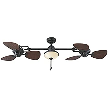 Amazon Com Hunter Fan 54 Quot Weathered Zinc Outdoor Ceiling