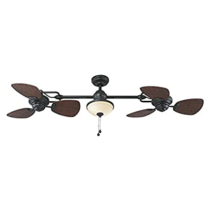 Harbor breeze twin breeze ii 74 in oil rubbed bronze outdoor downrod harbor breeze twin breeze ii 74 in oil rubbed bronze outdoor downrod ceiling fan aloadofball Gallery
