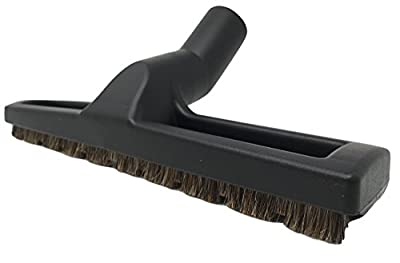 "Miele 12"" Floor Brush, ZVac Generic Brand, designed to fit Miele Canister Vacuum Cleaners, Floor Brush is black, 12"" width, with horse hair bristles ZVac Part Number ZVacMieleBFT"