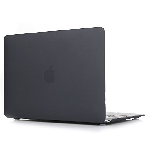 Price comparison product image Toogoo Clear Matte Rubberized Hard Case Cover for Macbook Pro 13 inch A1706@A1708 Laptop Shell Black