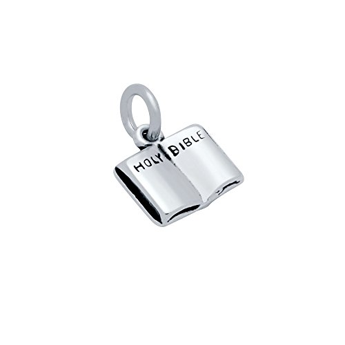 CloseoutWarehouse Sterling Silver Holy Bible Charm