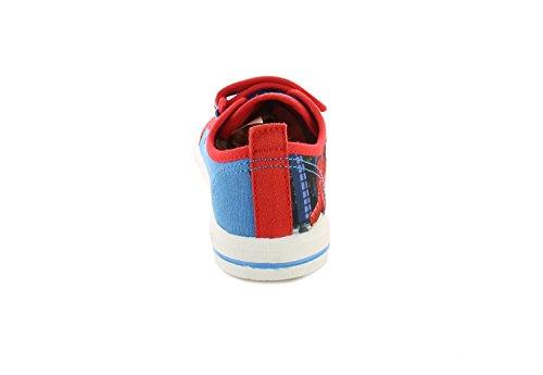 Neu Jüngeres Jungen/Childrens Blau/Rot Klettverschluss Spiderman Pumps blau/rot - UK GRÖßEN 1-13