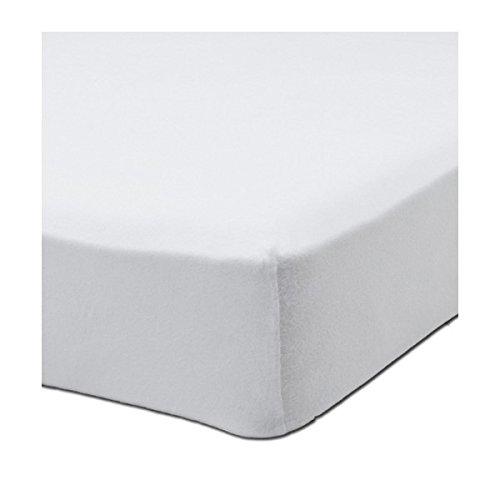 Alpes Blanc - Protector de colchón (muletón/algodón, 27 cm, 80 x ...