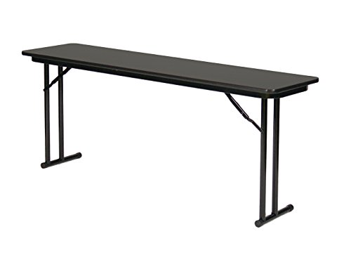 Leg Seminar Table - Correll ST1860PX-07 High Pressure Laminate Folding Seminar Table with Off-Set Leg For Maximum Leg Room, 18