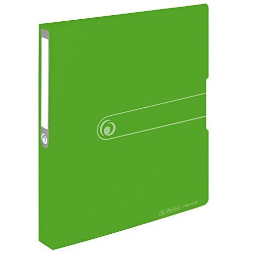 Herlitz 11226388 Ringbuch A4, PP, 2-Ring-Kombi-Mechanik, 3,8 cm Rücken, 25 mm Füllhöhe, opak apfel