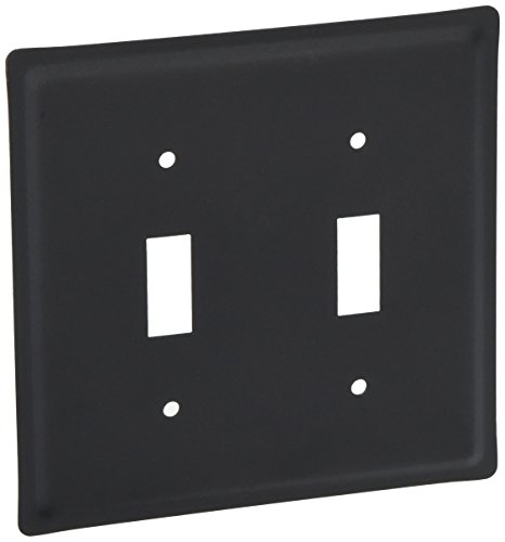 Village Wrought Iron Switchplate - 4.63 Inch Plain Double Switch Cover