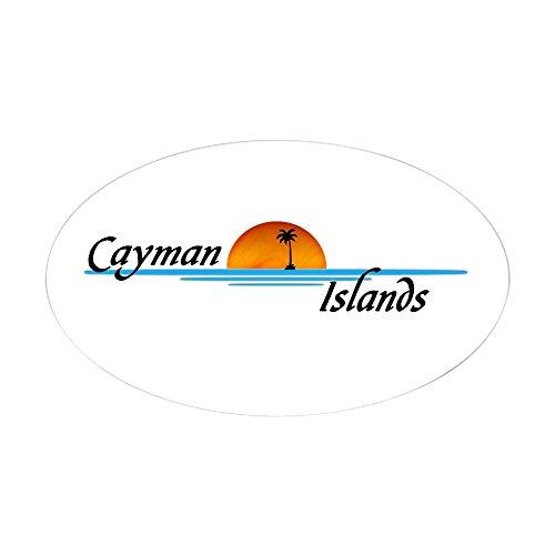 Sunset Cayman Islands - CafePress Cayman Islands Sunset Oval Sticker Oval Bumper Sticker, Euro Oval Car Decal