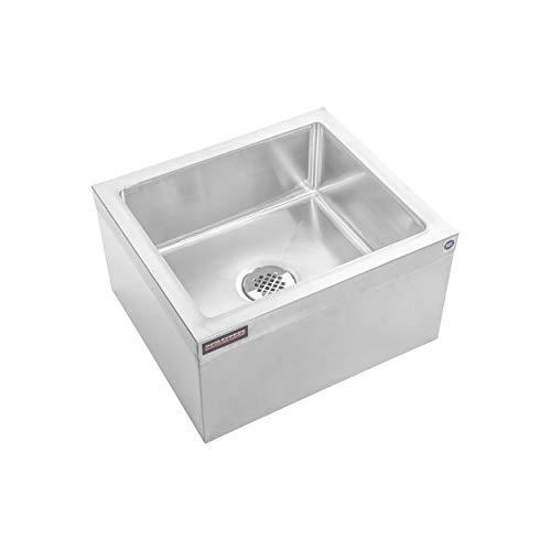 DuraSteel Stainless Steel Floor Mount Mop Sink/Basin with Sink Drainage/Strainer - NSF Certified - 19