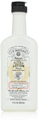 Coconut Honey (J.R. Watkins Natural Hand and Body Lotion, Coconut Milk and Honey, 11 Fluid Ounce)