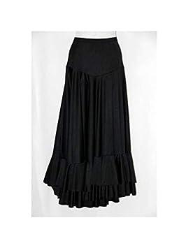 DISBACANAL Falda Adulto Lisa 2 Volantes - Negro, M: Amazon.es ...