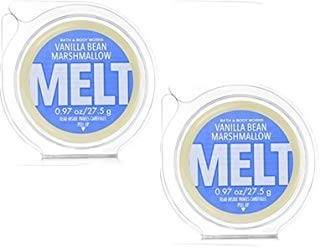 Bath and Body Works 2 Pack Vanilla Bean Marshmallow Wax Melt. 0.97 oz.