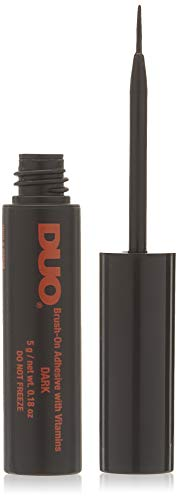 - DUO Brush-On StripLash Adhesive, Dark, Hypoallergenic, Latex & Formaldehyde Free, 0.18 oz