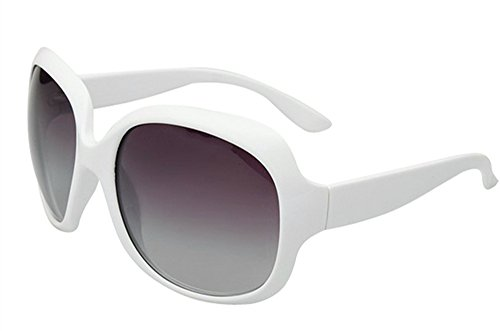 Fashion Polarized Sunglasses Oversized White Women's by LUFF LUFF UV400 Sunglasses MOTINE Xpw0q8v