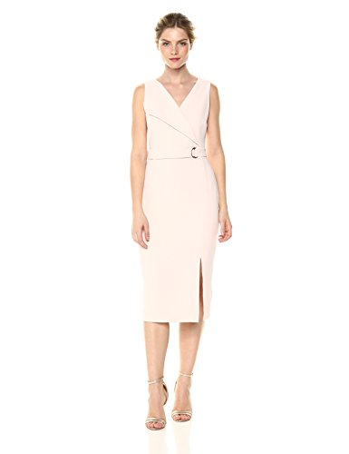 Textured Sheath Dress (Adrianna Papell Women's Cameron Textured Woven Wrap Sheath, Blush, 8)