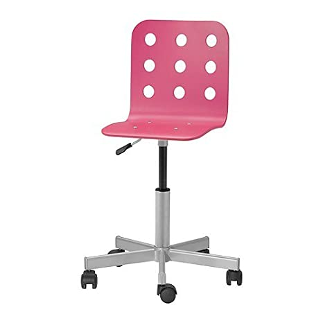 IKEA JULES - silla de escritorio Junior, rosa, plata color: Amazon.es: Hogar